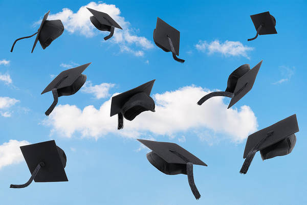 Wall Art - Photograph - Graduation Mortar Boards by Amanda Elwell
