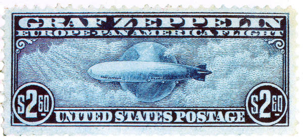 Stamp Collecting Photograph - Graf Zeppelin, U.s. Postage Stamp, 1930 by Science Source