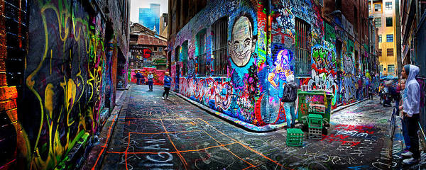 Walkway Wall Art - Photograph - Graffiti Artist by Az Jackson