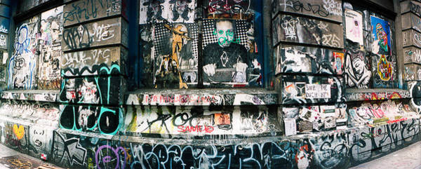 Germania Photograph - Graffiti Covered Germania Bank Building by Panoramic Images