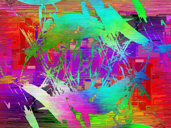 Manipulated Digital Art - Graffiti Cubed 2 by Tim Allen