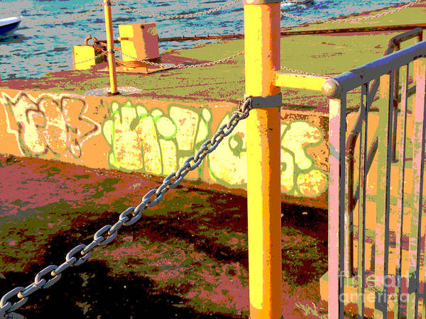 Photograph - Graffiti Dock by Anne Cameron Cutri