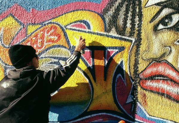 Wall Art - Photograph - Graffiti by Mauro Fermariello/science Photo Library