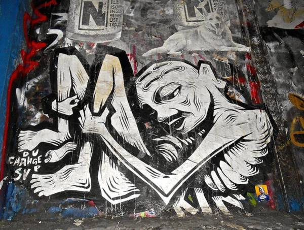 Photograph - Graffiti On 6th St.  Nyc by Joan Reese