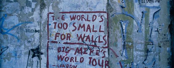 Wall Art - Photograph - Graffiti On A Wall, Berlin Wall by Panoramic Images
