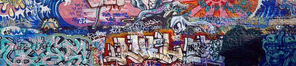 Mural Photograph - Graffiti On City Wall by Panoramic Images