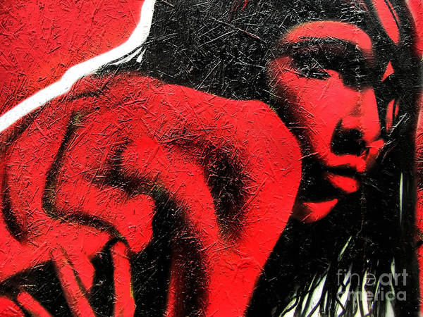 Photograph - Graffiti Red Girl by Daliana Pacuraru