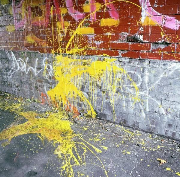 Spray Paint Photograph - Graffiti by Robert Brook/science Photo Library