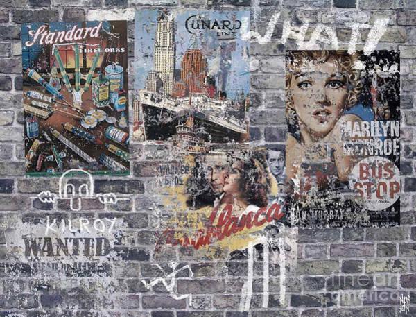 Bogart Digital Art - Graffiti Walls by Neil Finnemore