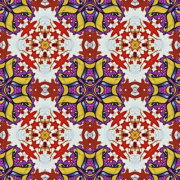 Digital Art - Graffito Kaleidoscope 40 by Roberto Pagani