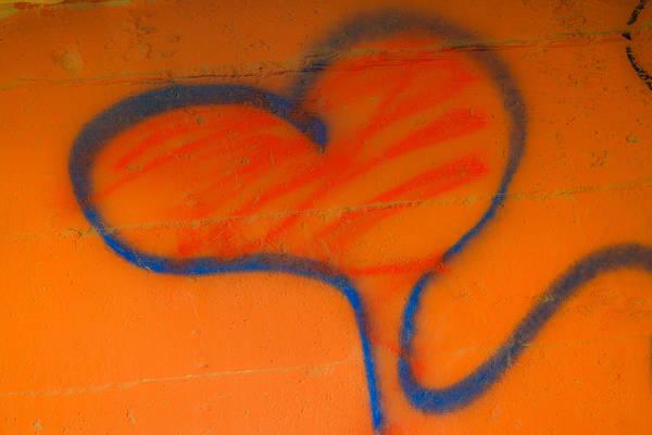 Wall Art - Photograph - Graffitti Heart by Tinjoe Mbugus