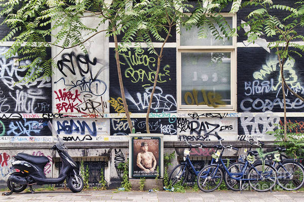 Photograph - Graffiti 2 - Amsterdam by Crystal Nederman