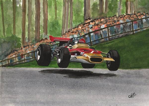 Chris Cox Painting - Graham Hill by Chris Cox