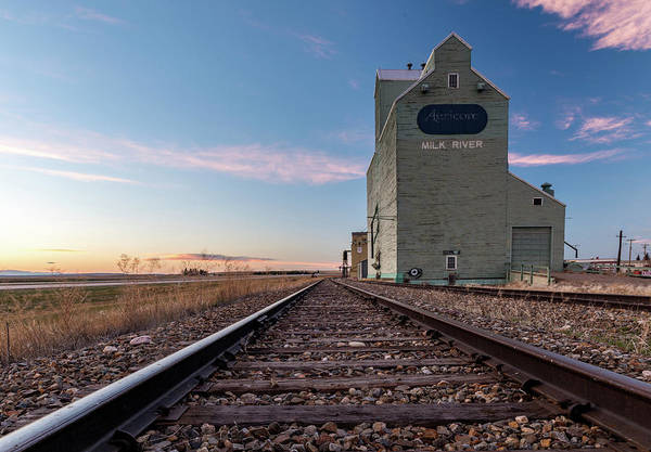 Grain Elevator Photograph - Grain Elevator And Railroad Track, Milk by Panoramic Images