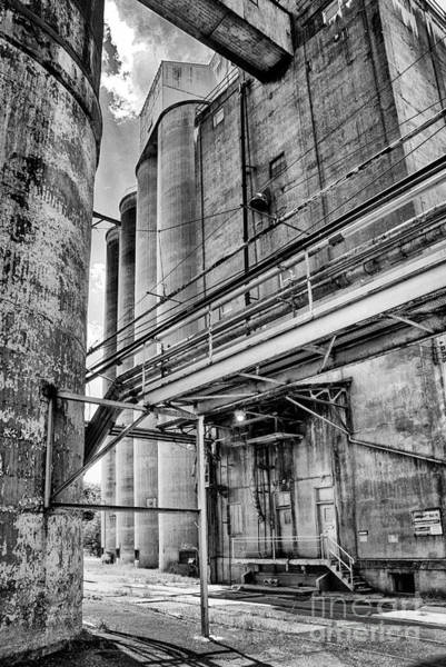 Photograph - Grain Mill Silo by Paul W Faust -  Impressions of Light