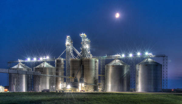 Wall Art - Photograph - Grain Processing Plant by Paul Freidlund