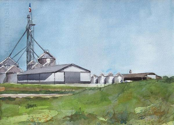 Silo Painting - Grainergy Farms by Spencer Meagher