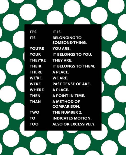 Grammar Rules Art Print