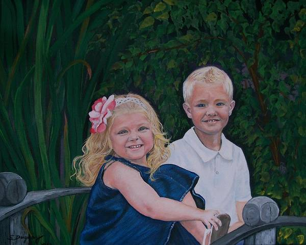 Painting - Grampa And Gramma's Joy  by Sharon Duguay