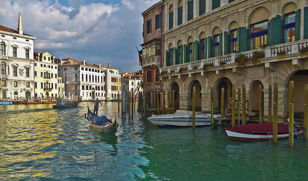 Motorboat Photograph - Grand Canal by Any Photo 4u