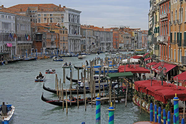 Photograph - Grand Canal From Rialto Bridge by Tony Murtagh