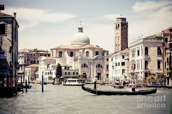 Photograph - Grand Canal In Venice by Raimond Klavins
