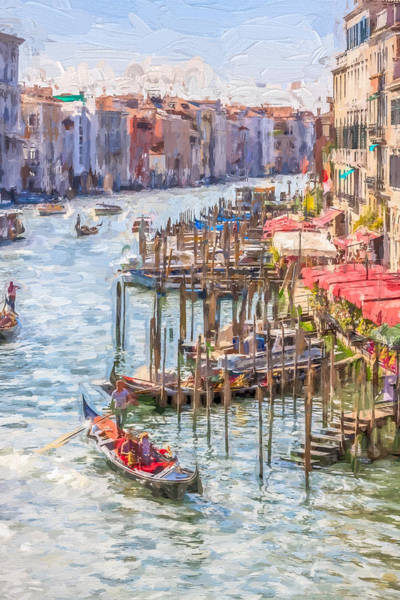 Photograph - Painted Effect - Grand Canal Venice Italy by Susan Leonard