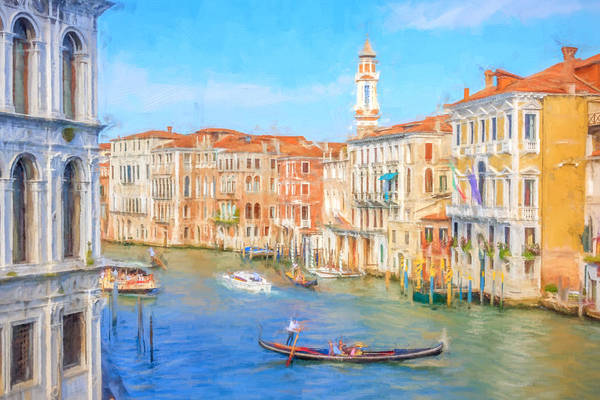 Photograph - Painted Effect - Grand Canal Venice by Susan Leonard