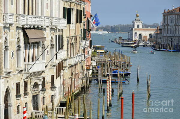 Wall Art - Photograph - Grand Canal View From Academia Bridge by Sami Sarkis
