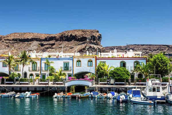 Grand Hotel Photograph - Grand Canary Puerto De Mogan by Mlenny