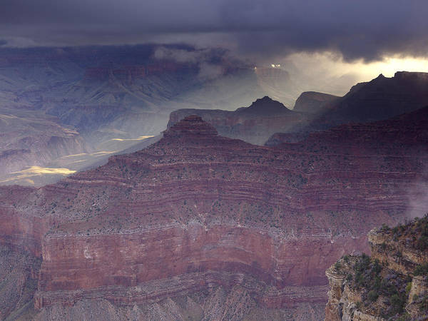 Grand Canyon - Clearing Storm Art Print by Richard Berry