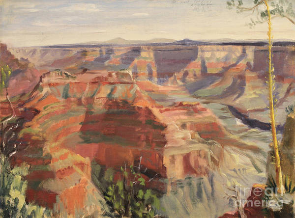 Painting - Grand Canyon - North Rim 1947 by Art By Tolpo Collection