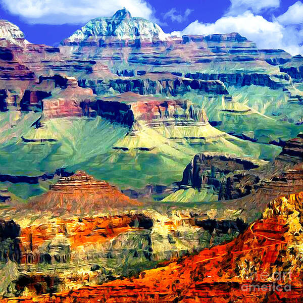 Painting - Grand Canyon After Monsoon Rains by Bob and Nadine Johnston