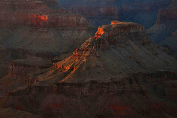 Wall Art - Photograph - Grand Canyon Alpenglow 3 by Stephen  Vecchiotti