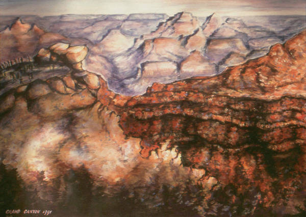 Painting - Grand Canyon Arizona - Landscape Art Painting by Peter Potter