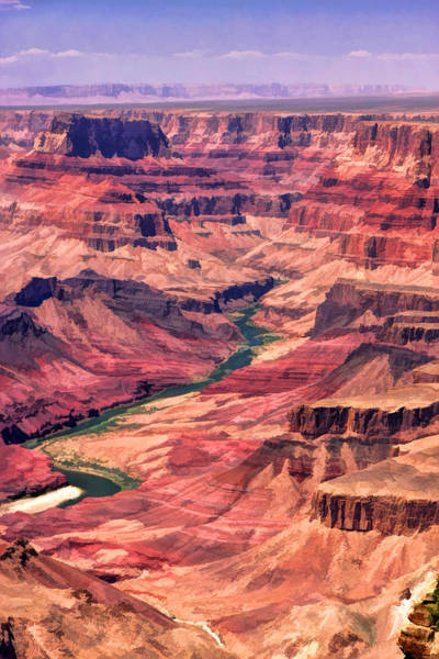 Painting - Grand Canyon National Park Colorado River Canyon by Christopher Arndt