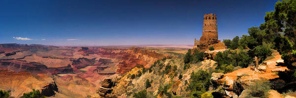 Painting - Grand Canyon Desert View Watchtower Panorama by Christopher Arndt