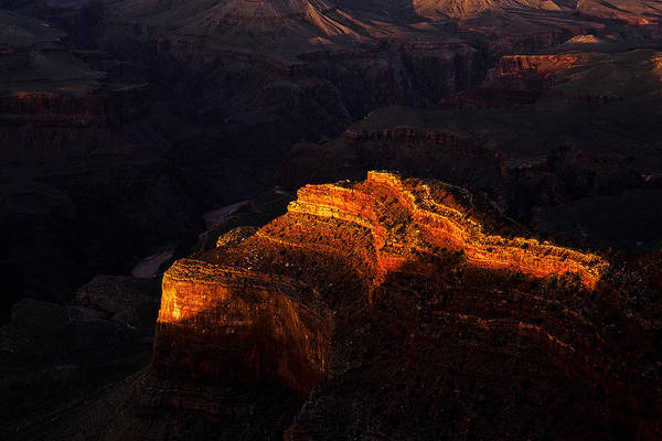South Rim Photograph - Grand Canyon Evening by Andrew Soundarajan
