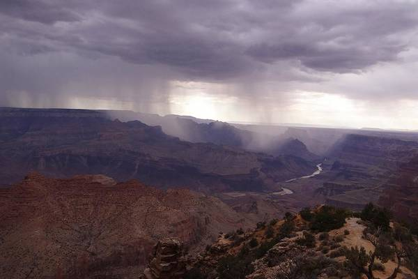 Photograph - Grand Canyon Rain Storms by Keith Stokes