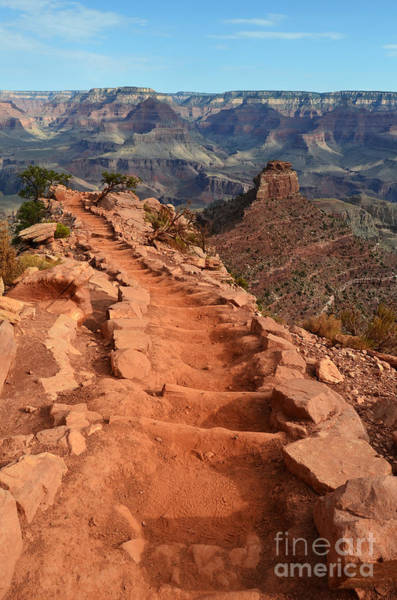 Wall Art - Photograph - Grand Canyon South Kaibab Trail And Oneill Butte Vertical by Shawn O'Brien