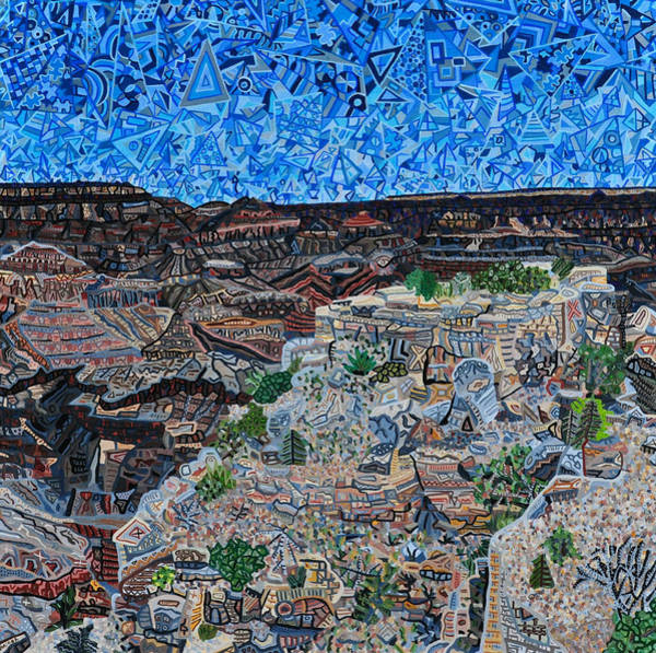 Wall Art - Painting - Grand Canyon - South Rim by Micah Mullen