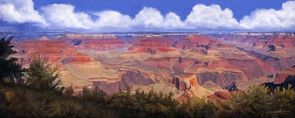 Southwest Digital Art - Grand Canyon View by Dale Jackson
