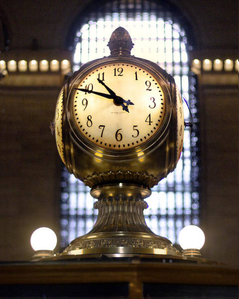 Photograph - Grand Central Clock Color Composite by Dave Beckerman