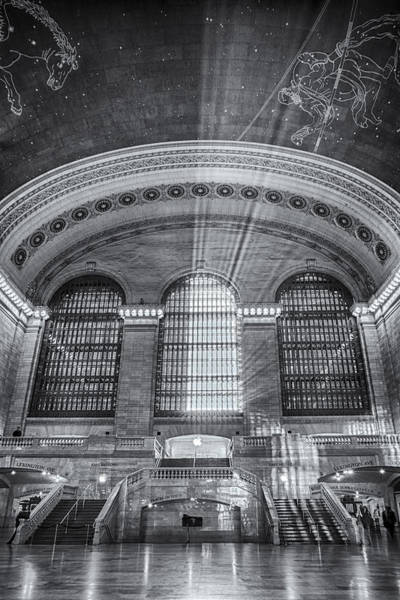 Grand Central Terminal Wall Art - Photograph - Grand Central Station Bw by Susan Candelario