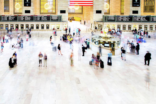 Public Places Wall Art - Photograph - Grand Central Station Commuters by Hal Bergman