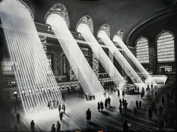 Grand Central Painting - Grand Central Station by Oskars Selickis