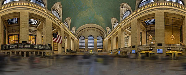 Photograph - Grand Central Terminal 180 Panorama  by Susan Candelario