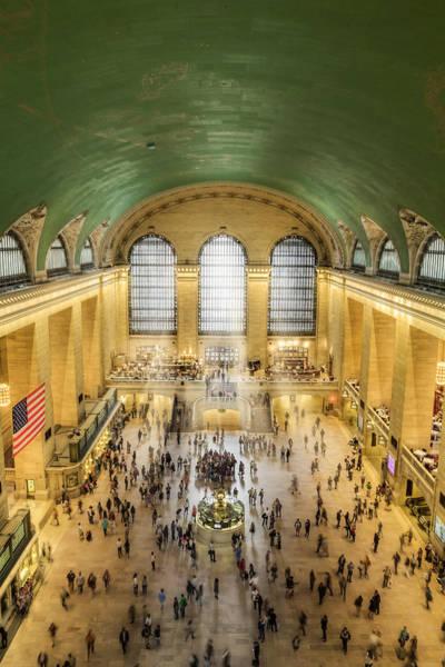 Photograph - Grand Central Terminal Birds Eye View by Susan Candelario