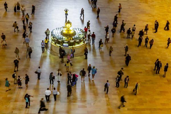 Photograph - Grand Central Terminal Clock Birds Eye View  by Susan Candelario