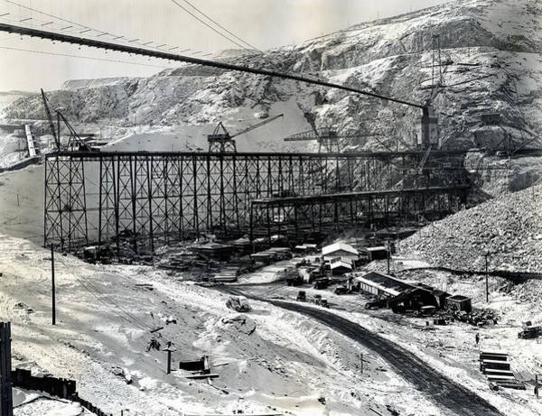 Wall Art - Photograph - Grand Coulee Dam Construction  C. 1936 by Daniel Hagerman